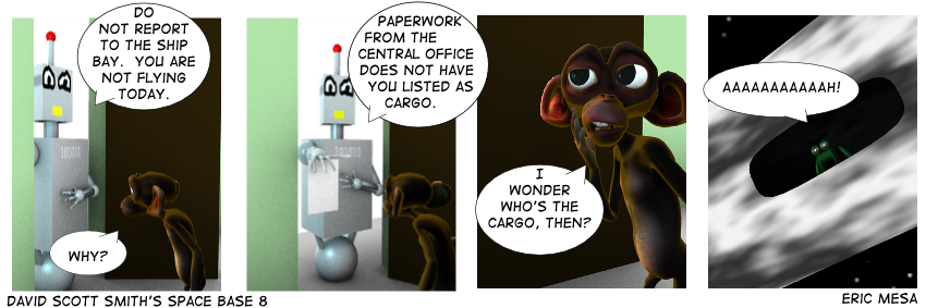A Guest Strip By Eric Mesa of I'm Not Mad! Who's The Cargo
