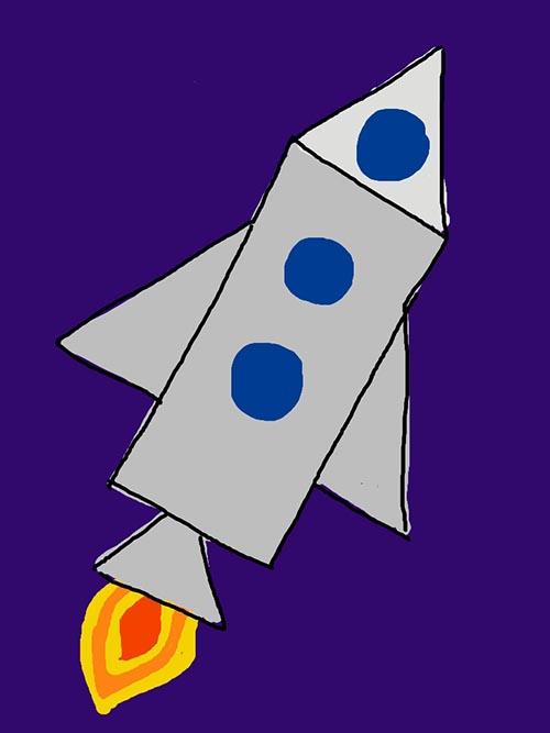 Rocketship by Danica Sevilla